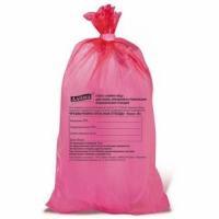 Мешок ПНД  70см/110см/18мк д/мед/отходов красный B