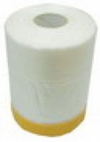 Плёнка защитная строительная ПНД 1,5м/25м с лентой