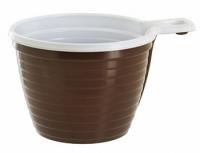 Чашка 180мл ПП коричневая
