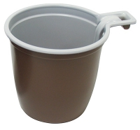 Чашка 200мл ПП коричневая